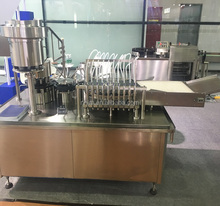 Fully automatic vials liquid filling stoppering capping machine