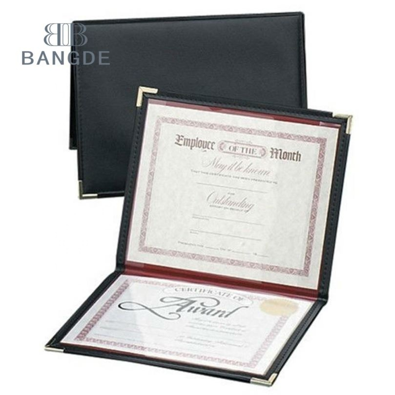 A4 certificaat houder Leather Cover