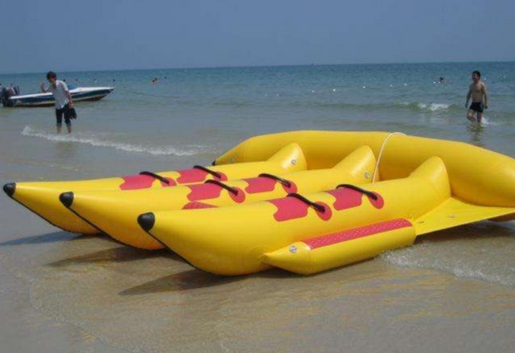 Commercial Inflatable Flying Fish Banana Towable Tube Boat Toys  For Water Sports