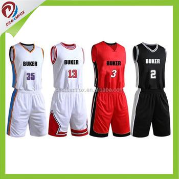 bc6b11b9b 2017 Latest design jersey basketball Custom Sublimation New style  International basketball jersey uniform design