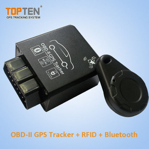 OBDII Blue Tooth Tracker and OBD Code Reader with RFID Auto Arm/disarm Engine Immobilizer