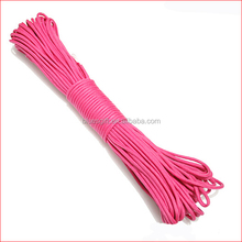 2014 high quality rose red color 4 mm diameter paracord