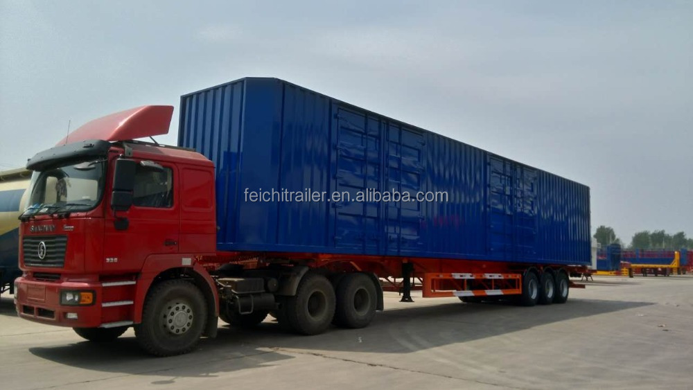 3 axle 48 ft skeleton /chassis /container semi trailer /van semitrailer