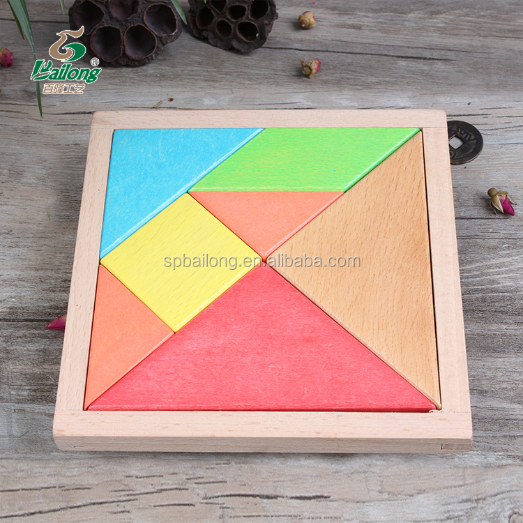 Wooden kids educational toy brain teaser puzzle