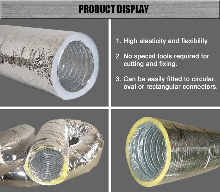 Hot Selling 8 Inch Pre Insulated Aluminum Flexible Duct Air Conditioning  Pipe Insulation - Buy Air Conditioning Pipe Insulation,Pre Insulated  Aluminum