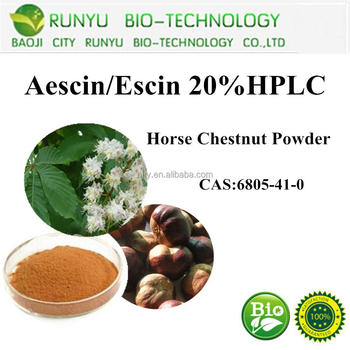 Manufacture supply 20% Aescins horse chestnut extract Test by HPLC