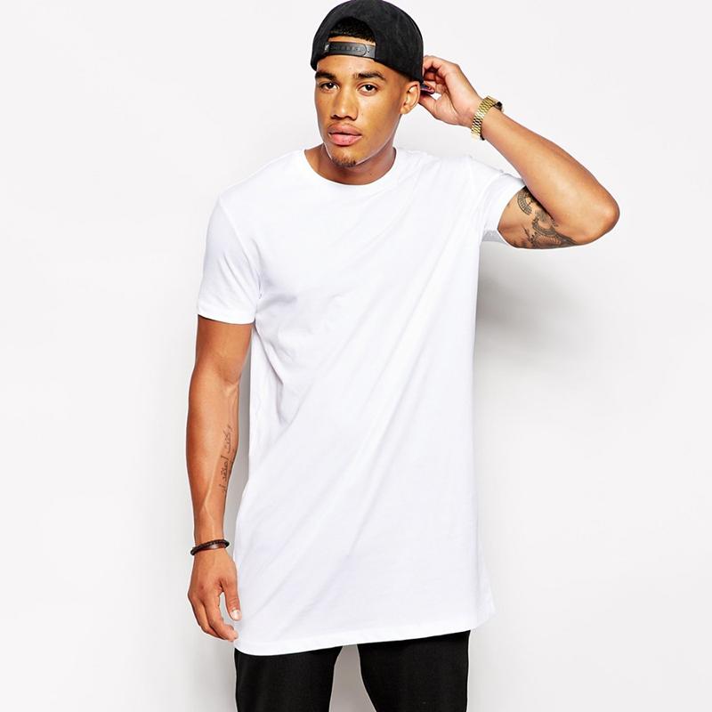 Factory Direct Wholesale Mens Plain White Tall Man Tee Shirt full cotton T  Shirt 06bc1d51825