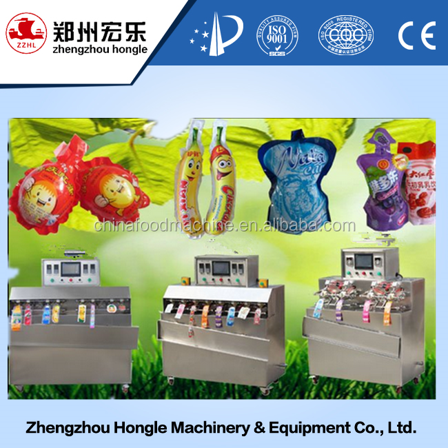 3000bags/hour Pure Water Bottle Shape Bag / pouch Sachet Filling Sealing Packing Machine