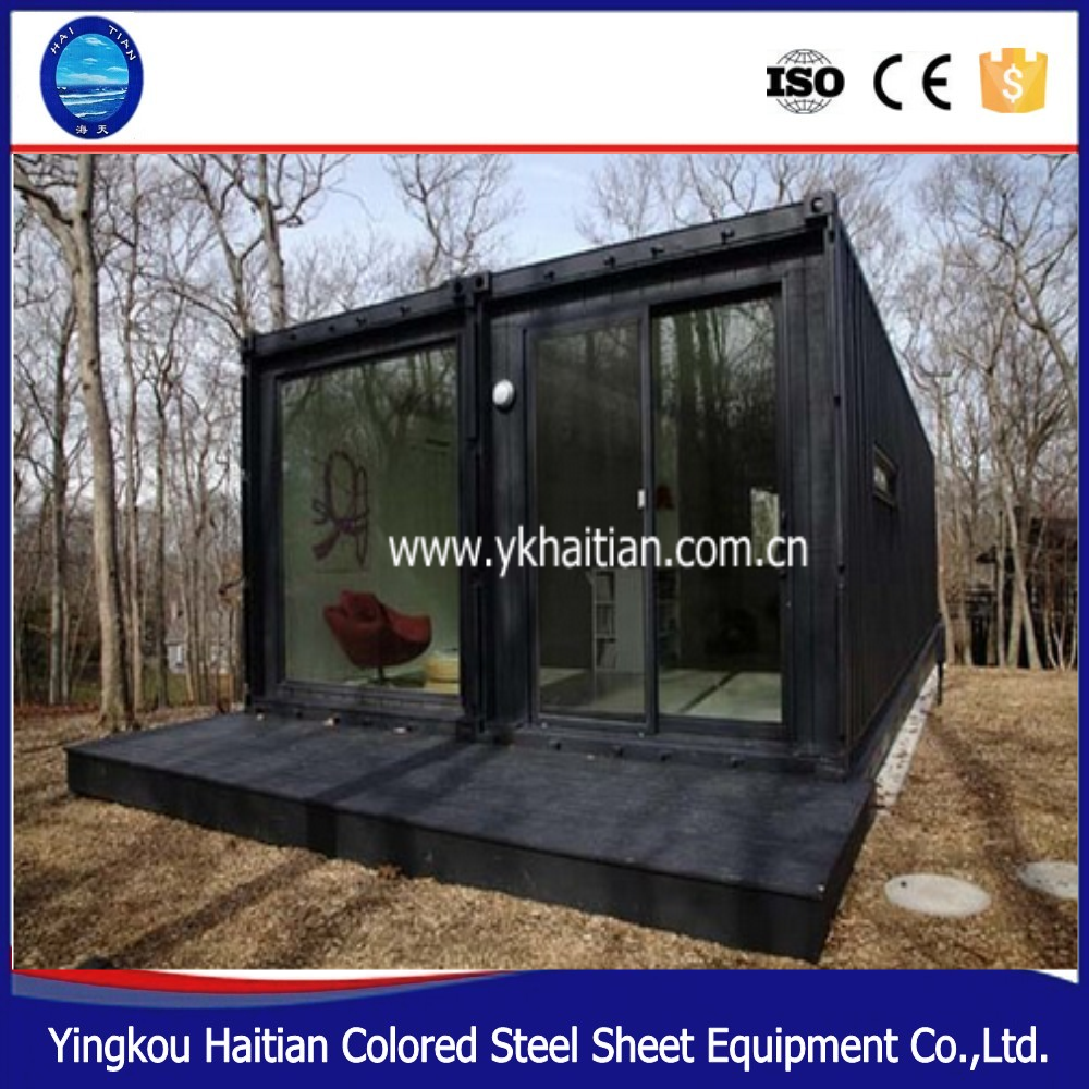 Design prefabricated container coffee shop houses,pre- assembled kitchen box units modular housing