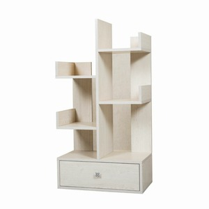 One drawer modern wooden tree bookcase