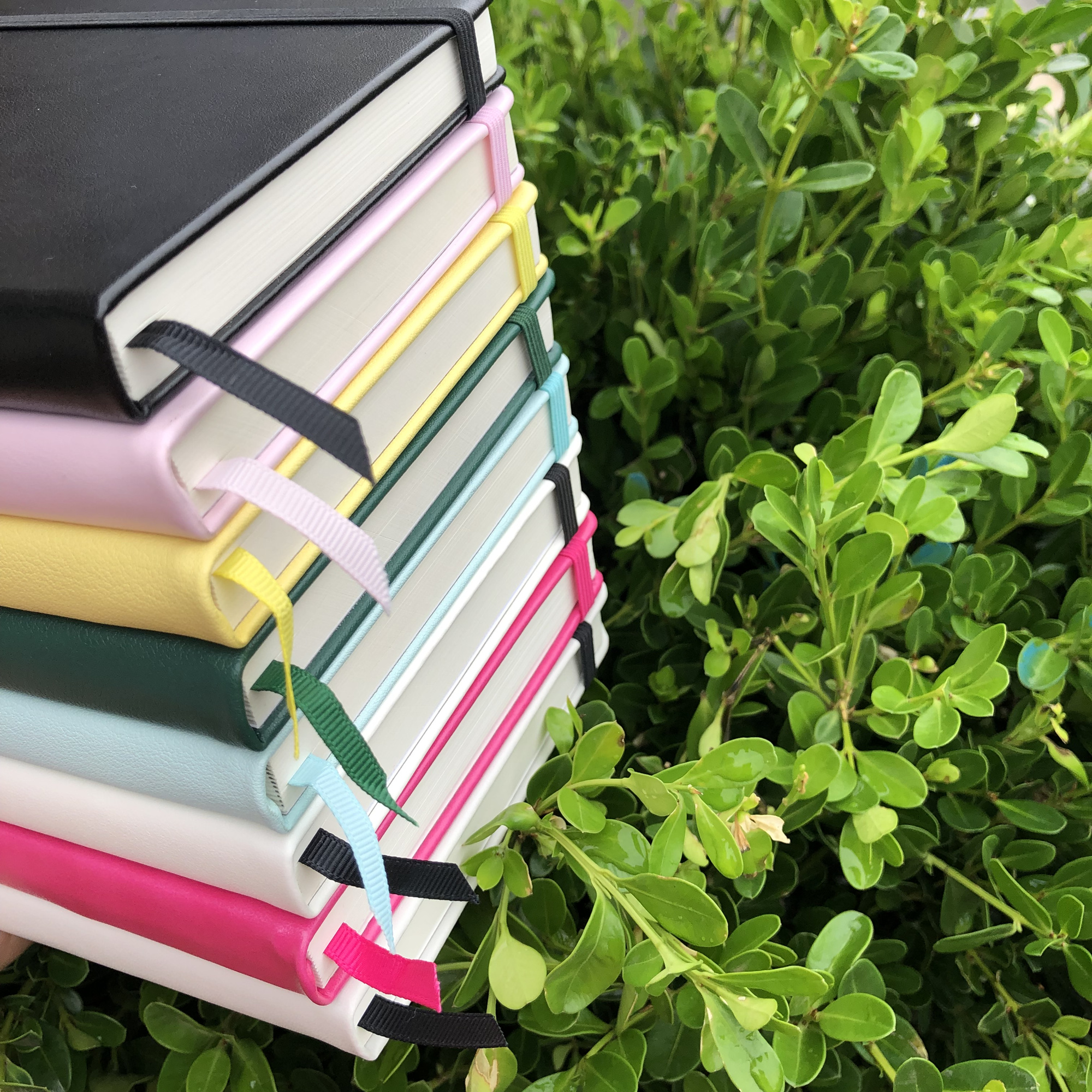 A5 black hardback notebook with inner pocket