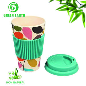 Disposable natural deradable eco pla bamboo fiber coffee cup mug