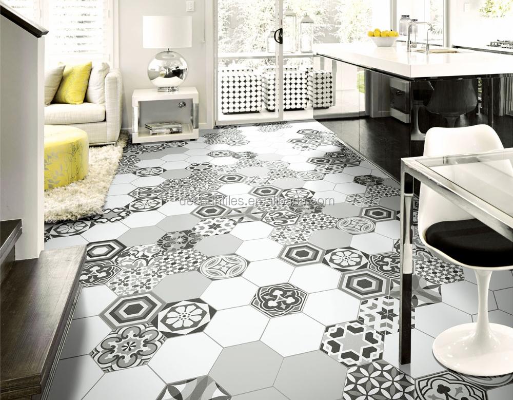 G zel dekoratif gri renkli alt gen seramik duvar karosu - Azulejos hexagonales ...