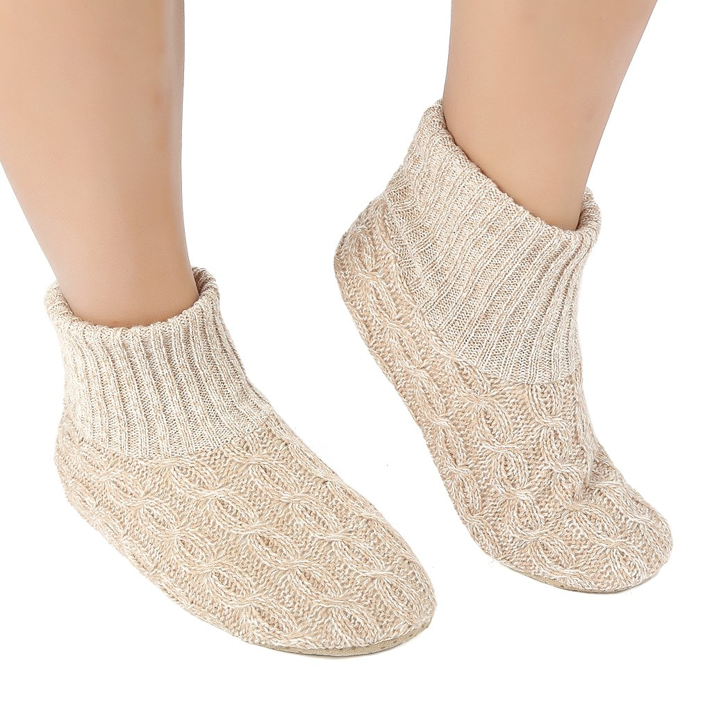 409386414c423 Get Quotations · Panda Bros Soft Cozy Non-Skid Thick House Indoor Boot  Slipper Socks Shoes with Anti