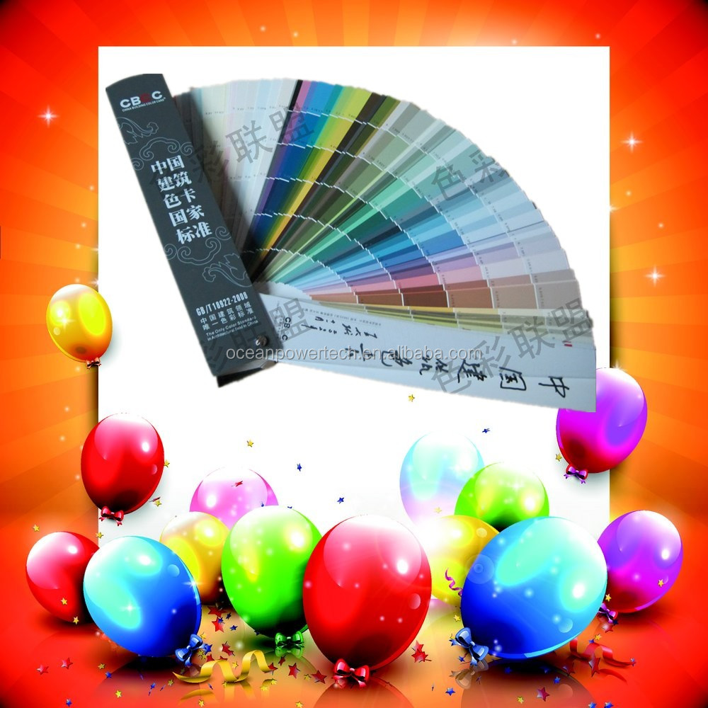 Outstanding-quality color chart /fandeck card / colour shade code with superior raw materials for inside-outside wall decoration