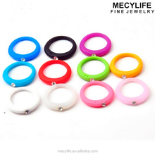 MECYLIFE Cheap Price Fashion Jewelry Multiple Colors Mens Silicone Wedding Ring