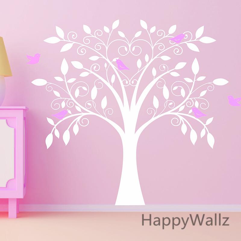 b b p pini re wall sticker oiseaux arbre stickers muraux. Black Bedroom Furniture Sets. Home Design Ideas