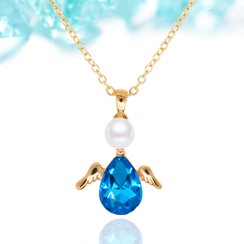 N018 Crystal Angel Wings Necklace For Women 18K Gold And Silver Plated Jewelry Necklace Fashion <strong>Accessories</strong> 2017 Latest Design