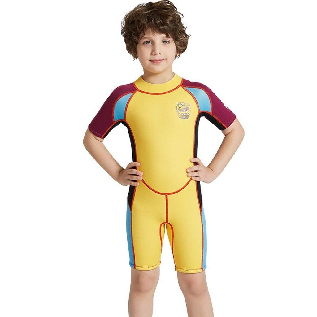 20cbd00b11 ESEL Boys 2.5mm Neoprene Shorty Wetsuits Warm Keep Diving Surfing Suit One  Pieces Stretch Swimwear