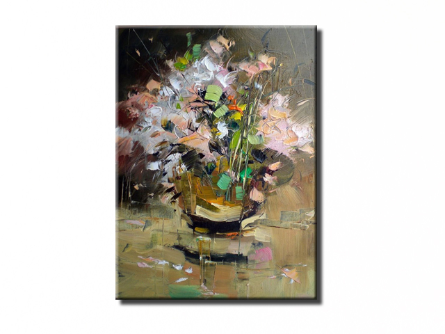 NEW 100% hand-painted canvas oil painting high quality Household adornment art flower pictures Matching framework  DM-15072104