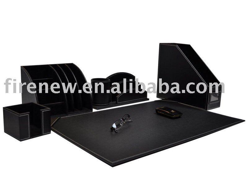 accessoires bureau cuir. Black Bedroom Furniture Sets. Home Design Ideas
