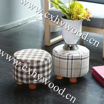 Home Furniture Living Room Foot Rest Stool Round Short Wood Leg Stool Buy 3