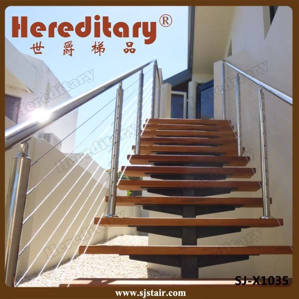 Exterior Stair Handrail Systems: Exterior 304/316 Stainless Steel Stair Handrail Balustrade