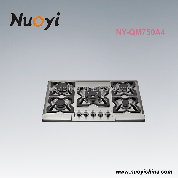 alibaba china supplier new products gas stove auto ignition 5 burner