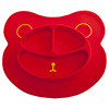 Dishwasher Safe Wipe Clean Silicone Food Plate For Baby Dinner BPA Free Non Slip Kids Place Mats