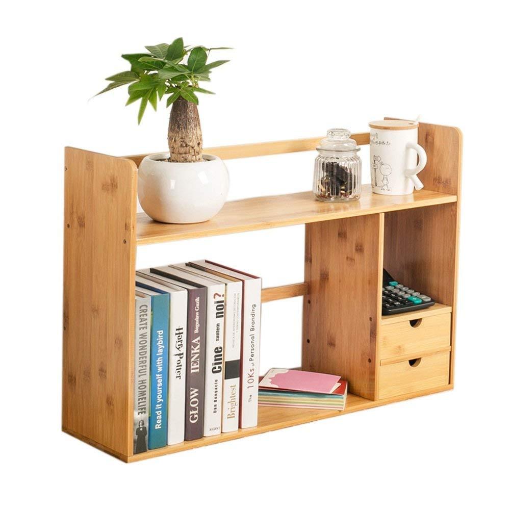 LQQGXL Storage and organization Bookshelf Student Desk Bamboo Bookshelf Desk Storage Rack with Drawer (Size : 481946cm)