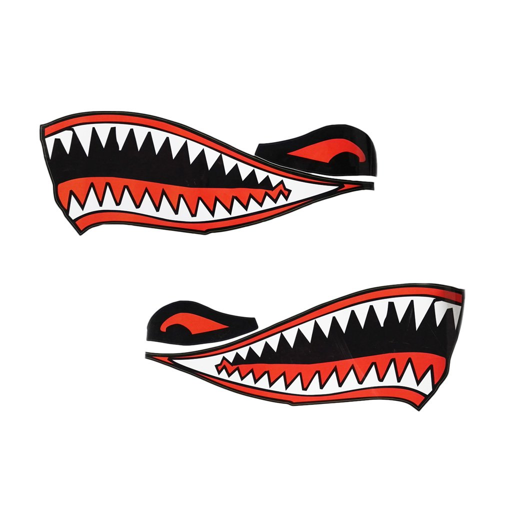 Buy Dovewill 2 Pieces Set Cool Shark Teeth Mouth Vinyl