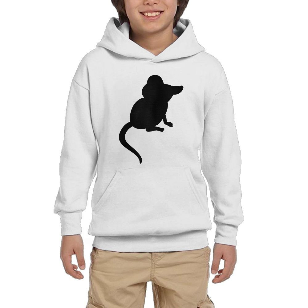 Mouse Cartoon Girl Athletic With Pocket Hooded Graphic Pullover Sweatshirts