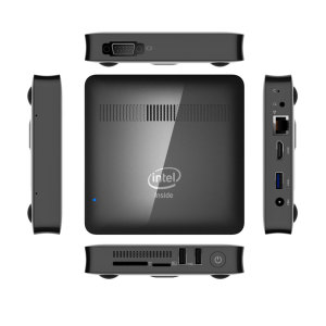 Fanless MINI PC Windows 10 with Intel Celeron N3450 4GB RAM 64GB EMMC M.2 SSD