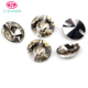 high quality clothes button decoration clear AB rivoli rhinestone