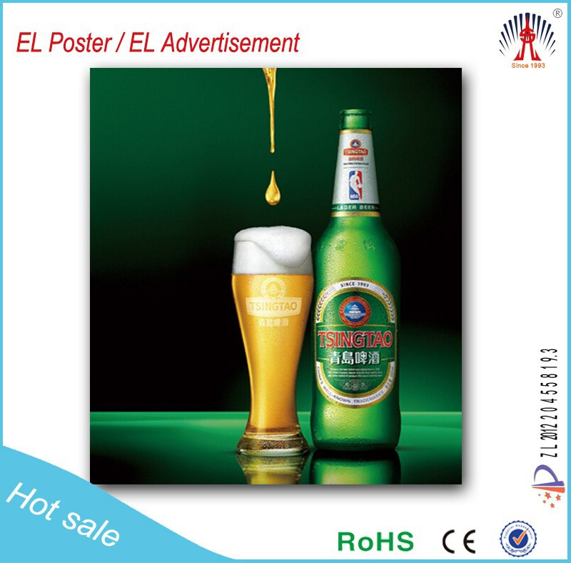China Manufacture Led Poster El Advertisement Display For Beer ...