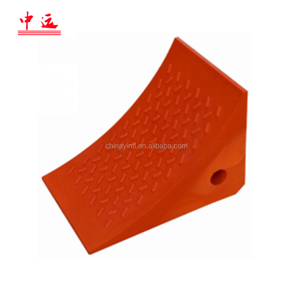 orange/yellow  PU Wheel chock block for 20 T cars trucks heavy vehicles
