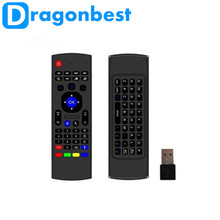 Dragonbest Mini Keyboard MX3 Remote Control Fly Air Mouse with Android/Linux Operating System for Android Tv