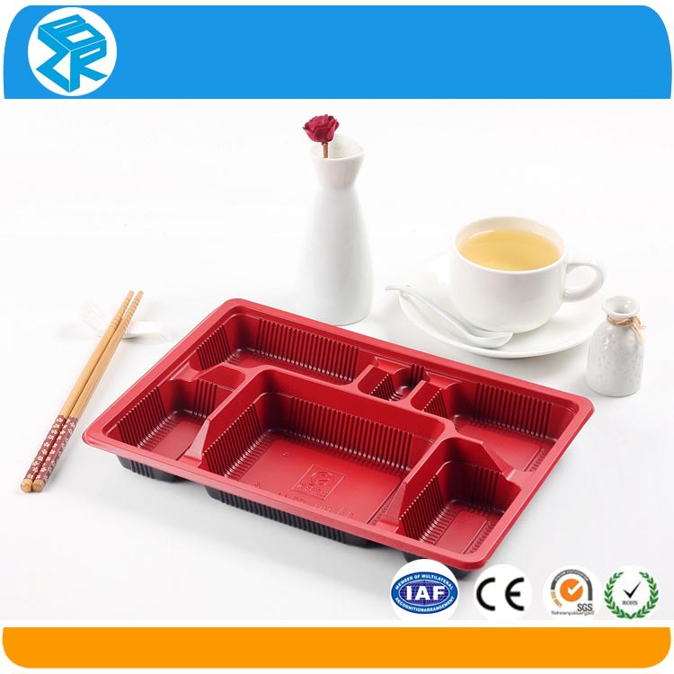 Plastic 6 Compartment Disposable Food Tray - Buy 6 Compartments Tray ...