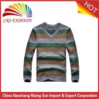 2017 Latest pullover v neck handmade sweater design for man