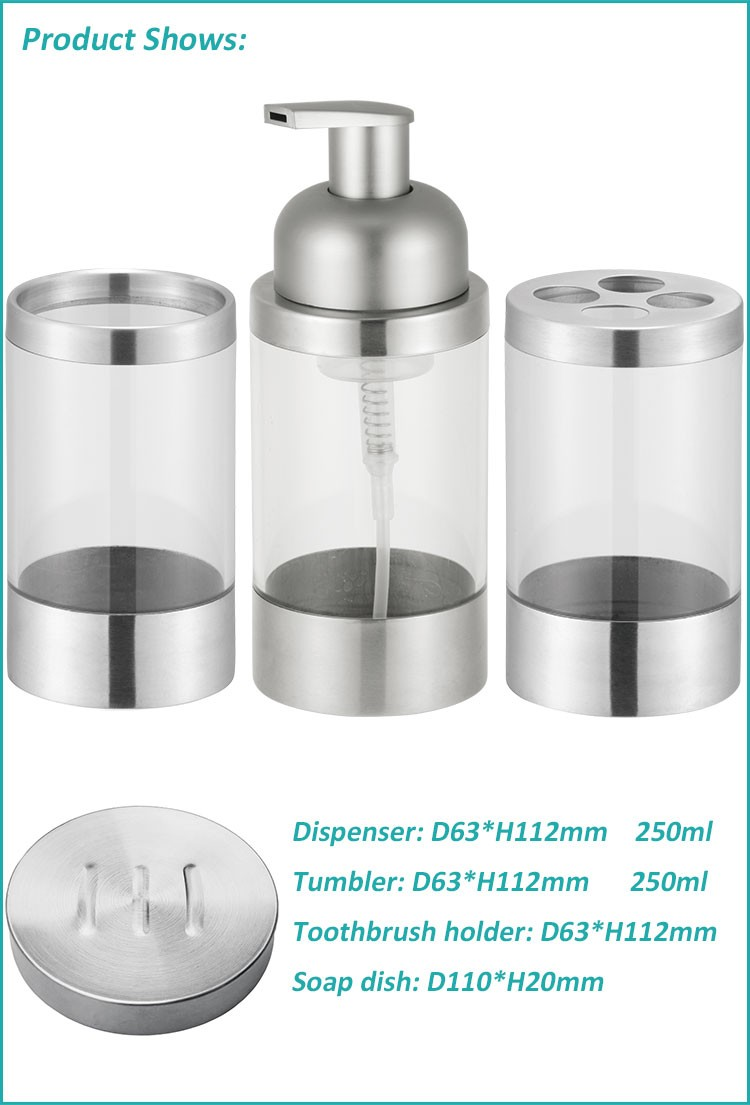 Good quality free sample plastic liquid soap bottle with stainless steel lotion pump