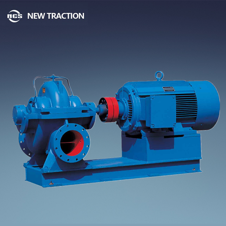Horizontal single stage double suction high flow rare centrifugal pump with split volute casing
