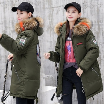 SC2001 winter korean style fashion women loose cotton clothes coat