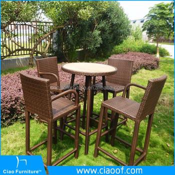 High Bar Stool Set Garden Line Patio Furniture Product On Alibaba