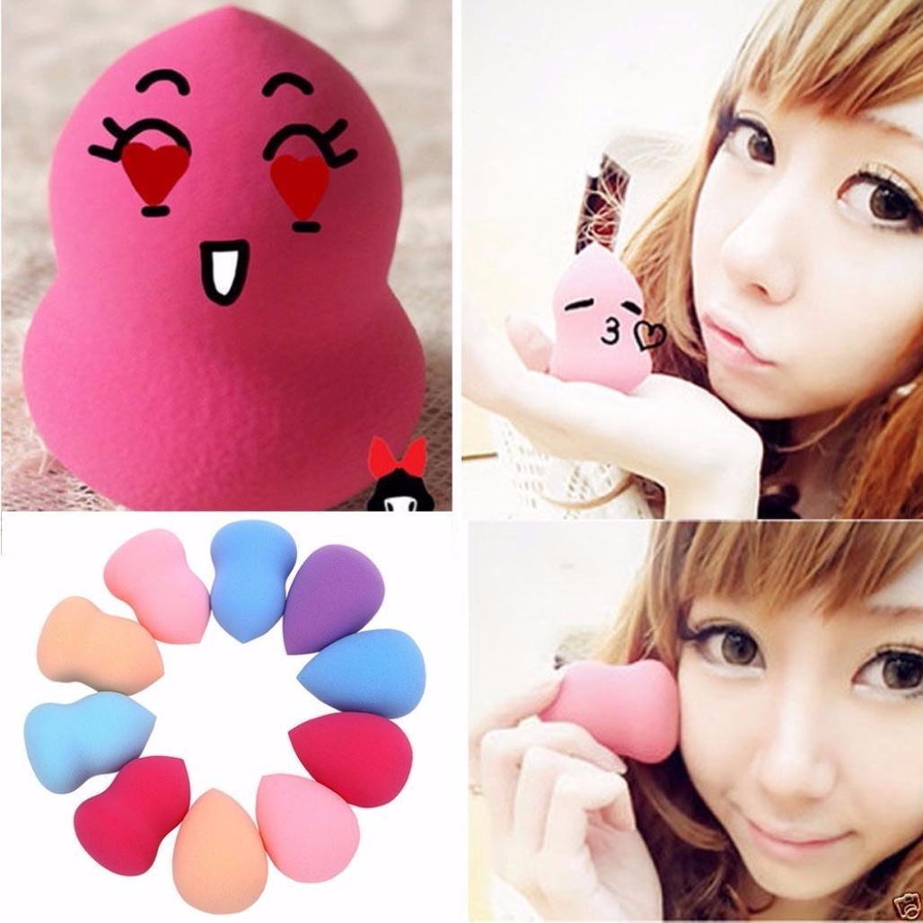HOT Sale!10pcs Multi Shape Sponges Puff,Canserin Beauty Flawless Makeup Blender
