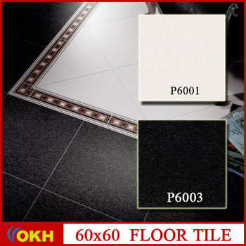 Rustic black and white porcelain floor tile