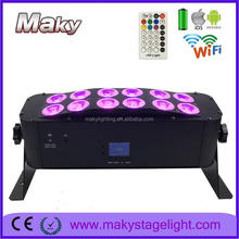 uplighting phone controlled bar wall washer light 6 in 1 remote control wireless DMX battery powered led wash light