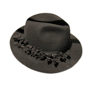 4ccd64763f78a Black Red Gray Top Hat Women Chapeau Fedora Felt Vintage Party Church Hats