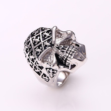 12316-women fashion skull jewelry fancy finger skull ring