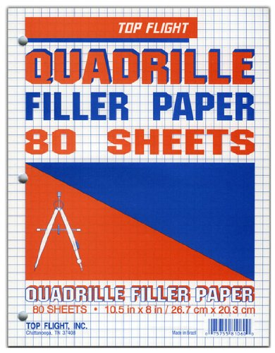 11 x 8.5 Inches College Rule Top Flight Filler Paper 500 Sheets 12430
