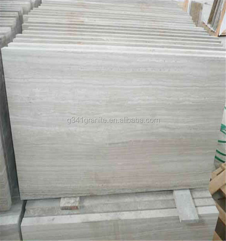 newly design white wooden vein marble floor tiles polished marble block